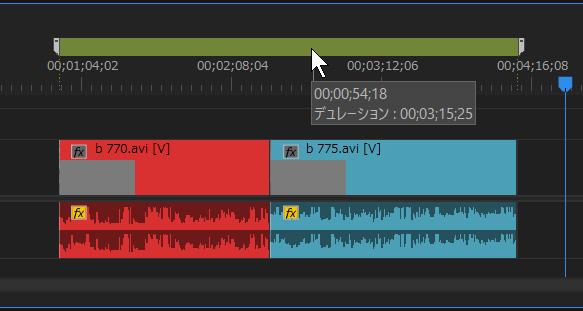 Premiere Proのマーカーでクリップの時間を見る