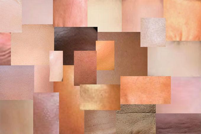 様々な肌の色比較