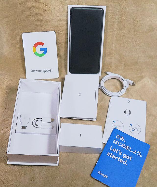 Google Pixel 3 XLの内容品