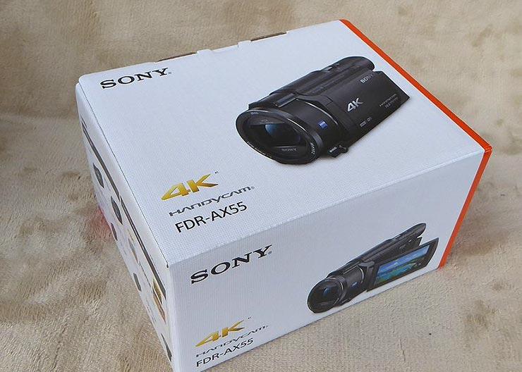 ソニー FDR-AX55の箱