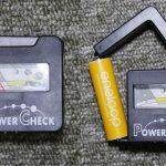 電池残量チェッカー その2 100均のPower Checkを使ってみた結果