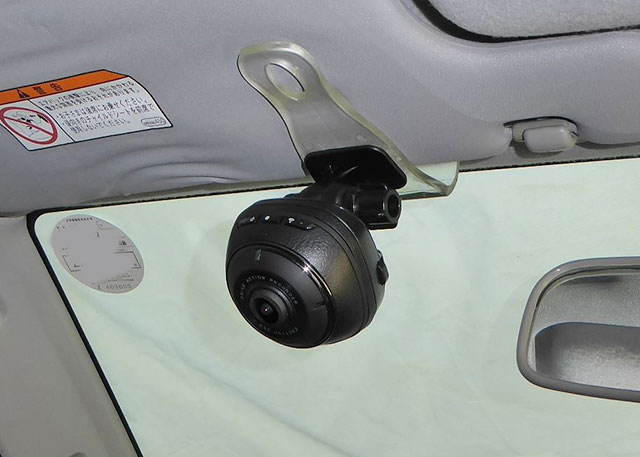 daction360サンバイザー設置例