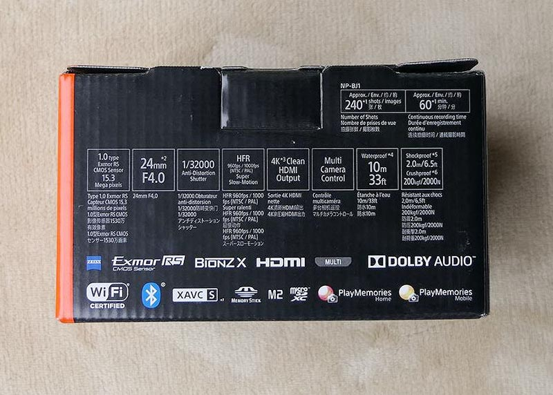 SONY DSR RX0 箱