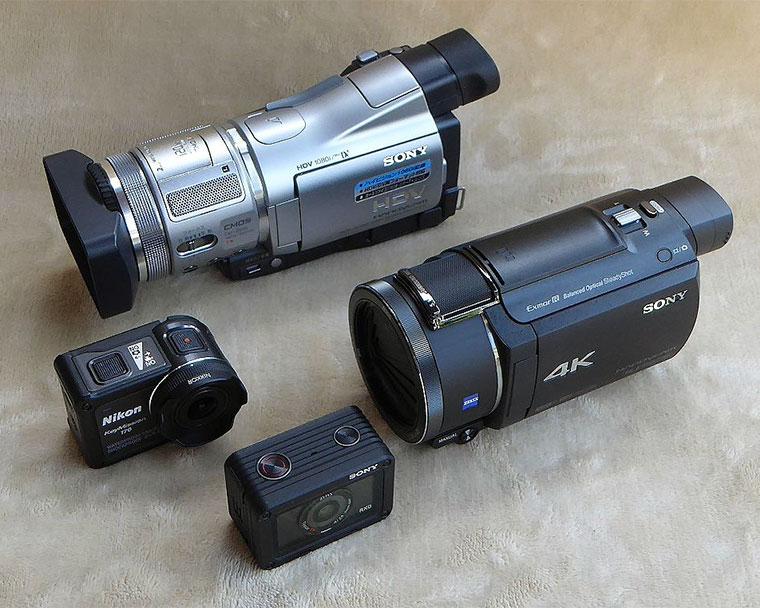 FDR-AX55とHDR-HC1とキーミッション170とRX0