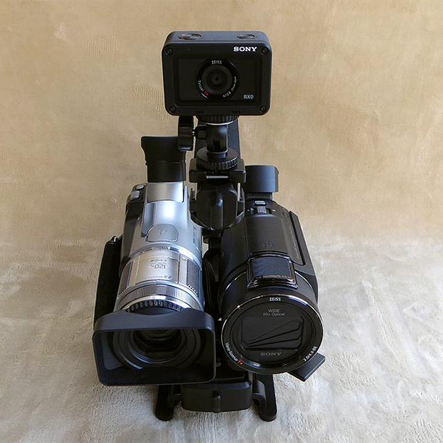 ビデオカメラアクションカム同時撮影