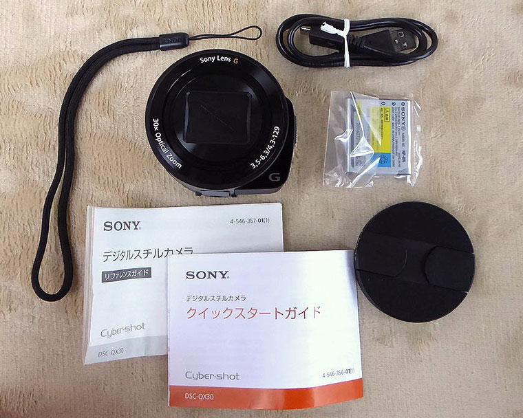 SONY-QX30の内容物