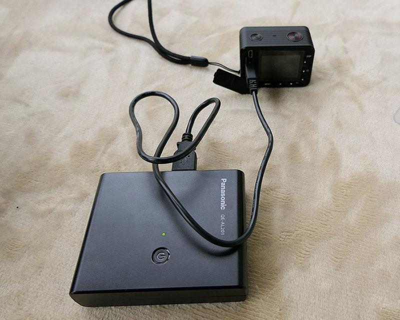 RX0 モバイルバッテリー 給電