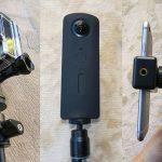 RICOH THETA Sで世界征服を企む iPhoneで録画制御できる自撮り棒制作
