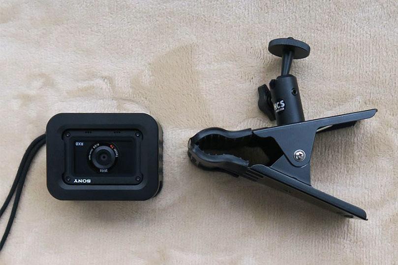 クリップでカメラの固定